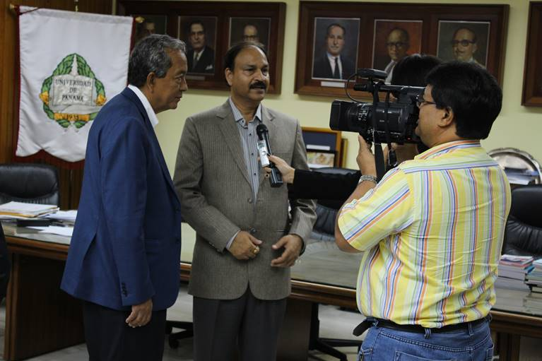GIOSTAR Chairman Dr. Anand Srivastava interviewed by President office of University of Panama for the collaboration in the field of stem cell science.