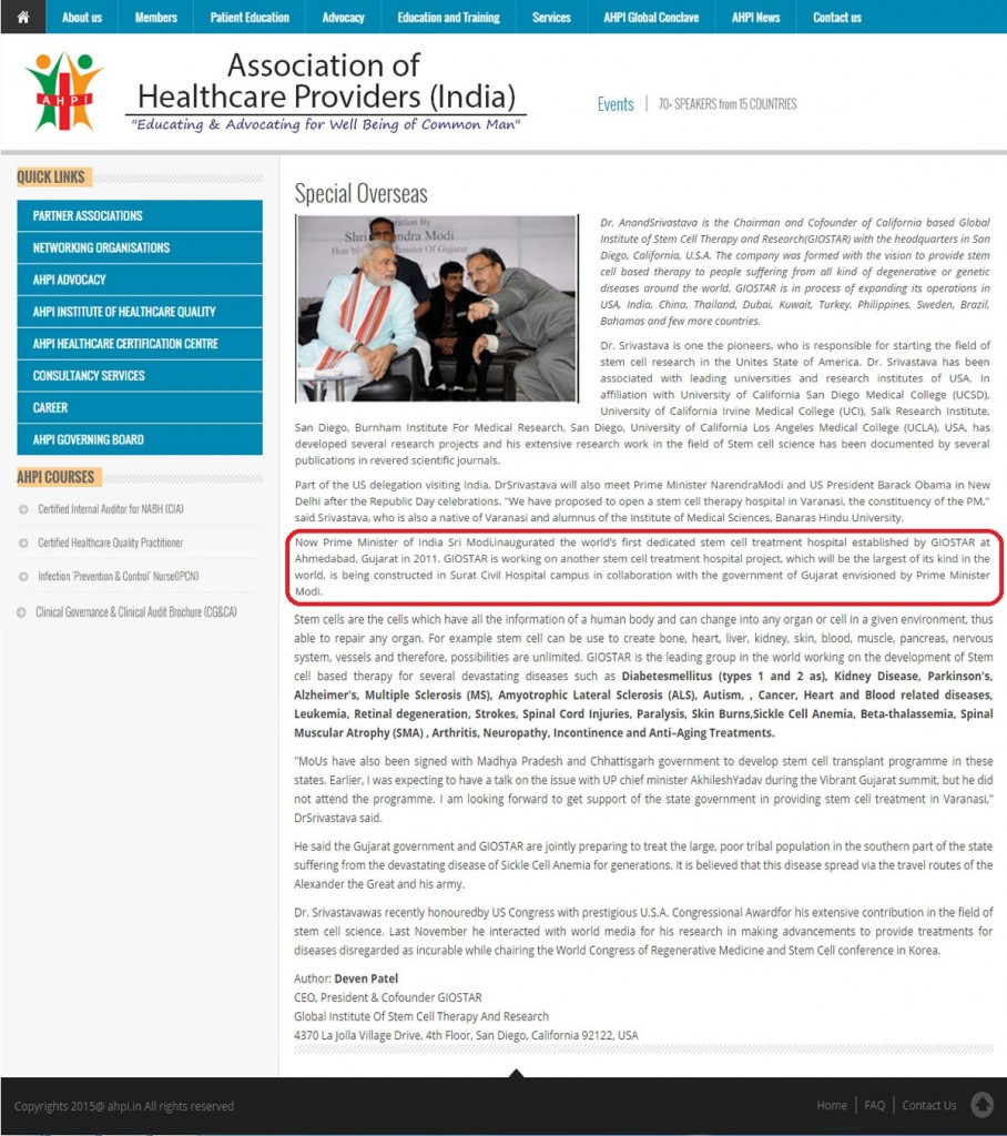 Association of Healthcare Provider (India) News Update