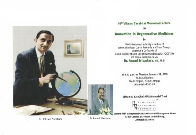 Dr Vikram Sarabhai Memorial Lecture 2019 Invitation Letter 11